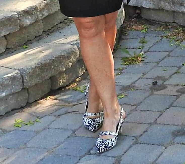 floral shoe dazzle kitten heel