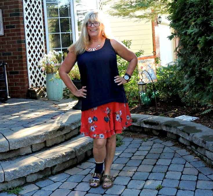 old navy floral skirt with a leopard sandal from Target and a classic blazer