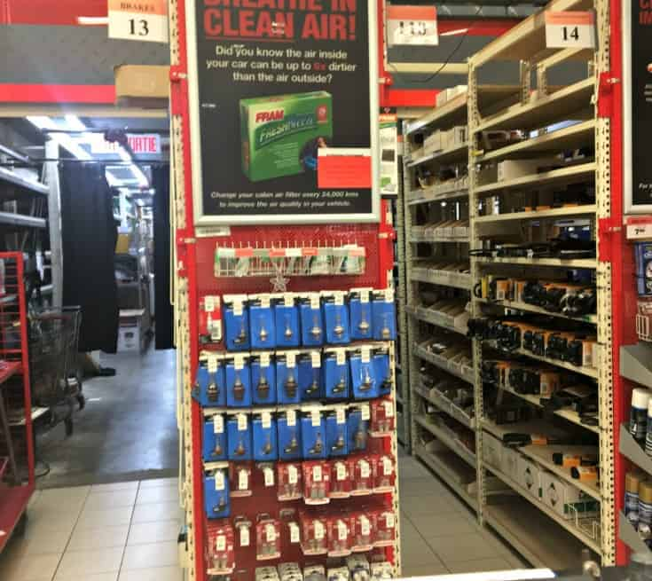 FRAM air filters at Canadian Tire