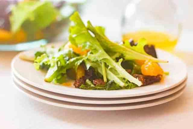 dinner Mandarin Orange Salad plated