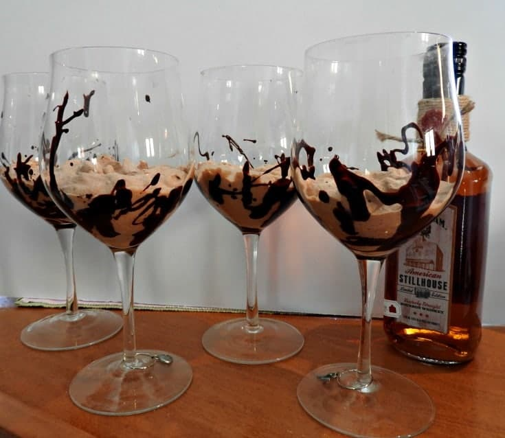Bourbon Chocolate Mousse with chili chocolate.