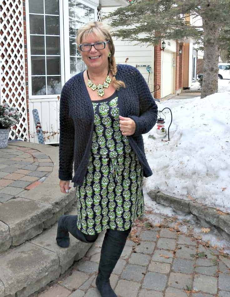 my pineapple dress in the winter