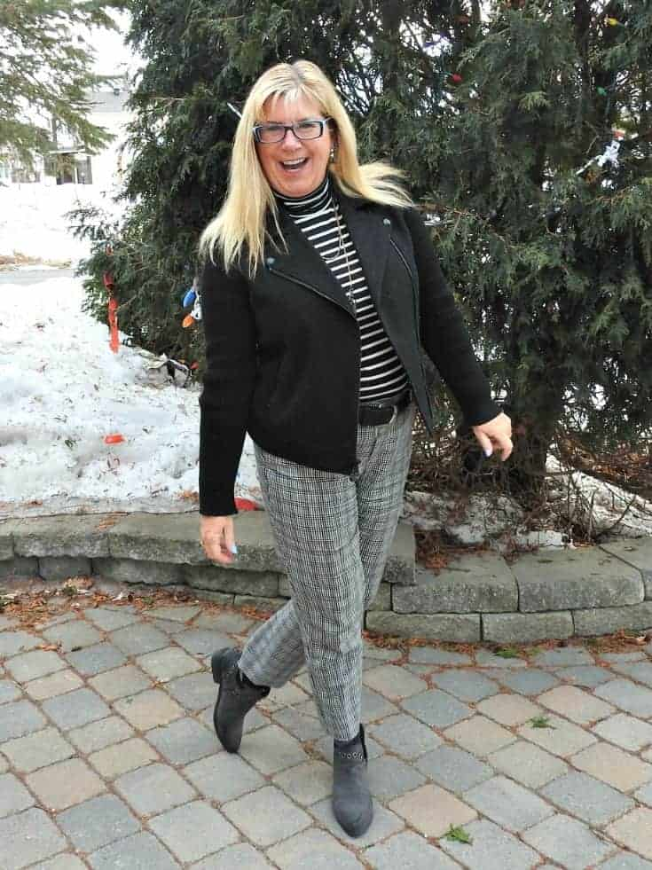 winter wear in stripes and checks