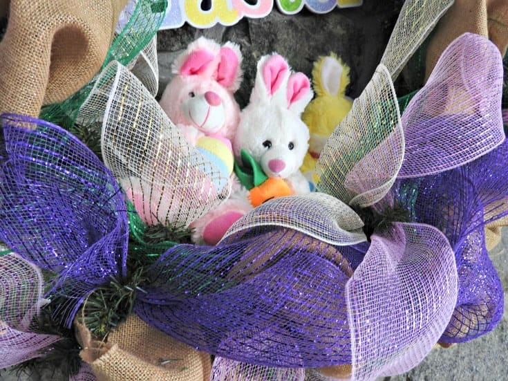 bunnies in a wreath