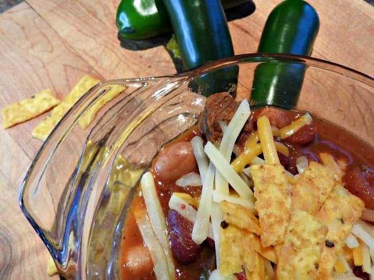 homemade Texas style beef chili