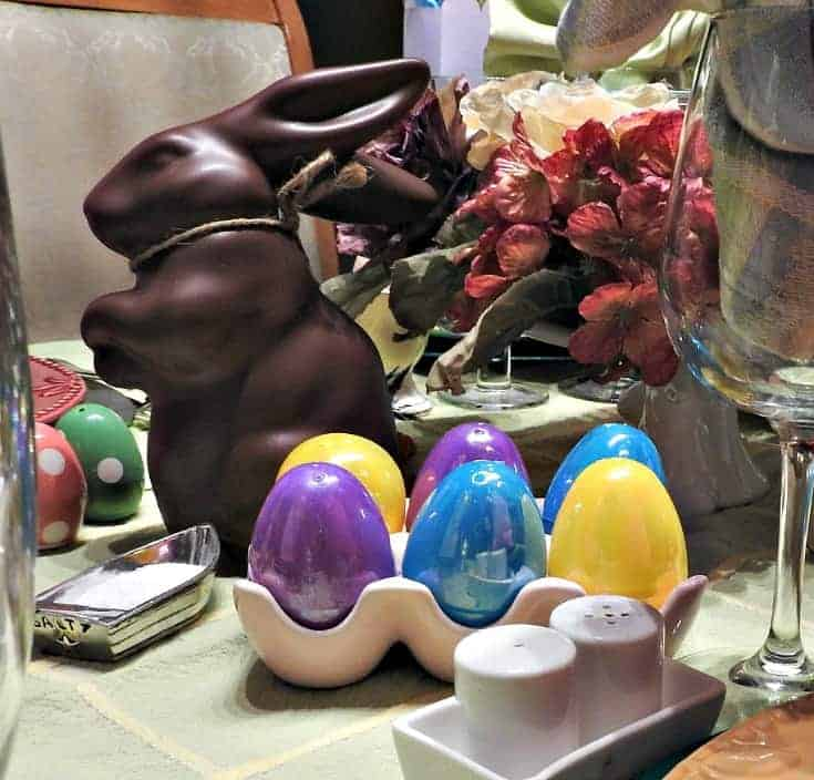 eggs and bunnies for easter
