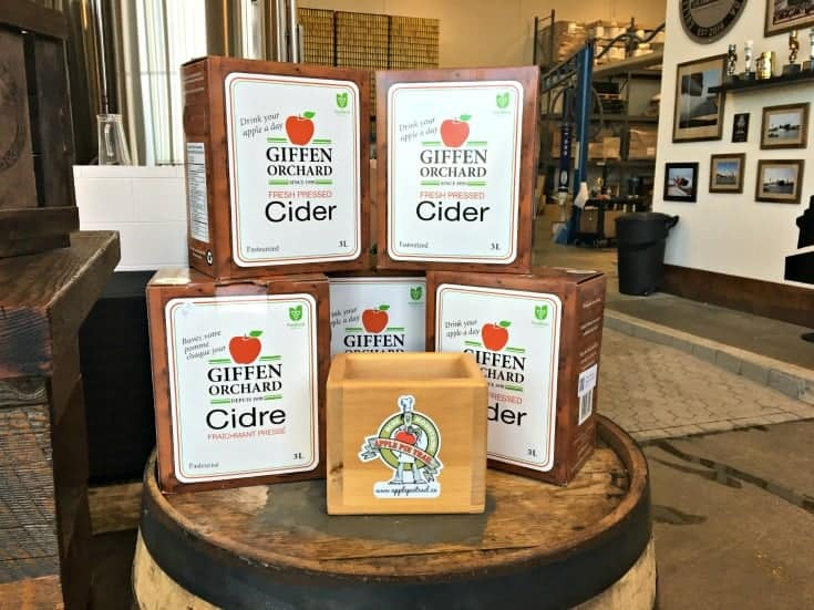 cider display at Side launch Brewery in Collingwood