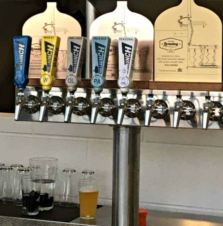 the taps at Side launch Brewery in Collingwood