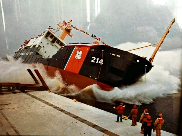 a side launch of a new ship