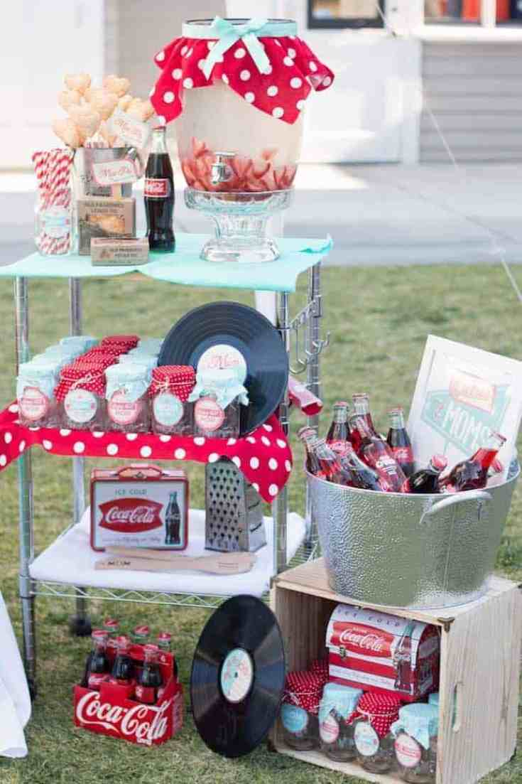 vintage party for Moms day with Coke