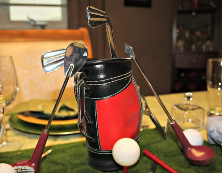 Fathers Day and Golf share a table