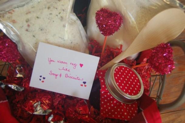 valentines basket of treats