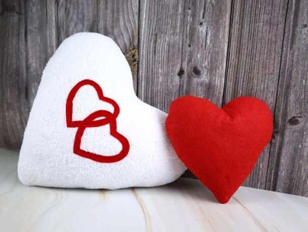 handmade heart pillow