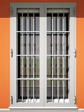 Iron grata di sicurezza, installazione filo muro