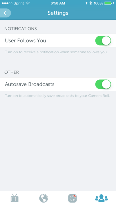periscope settings