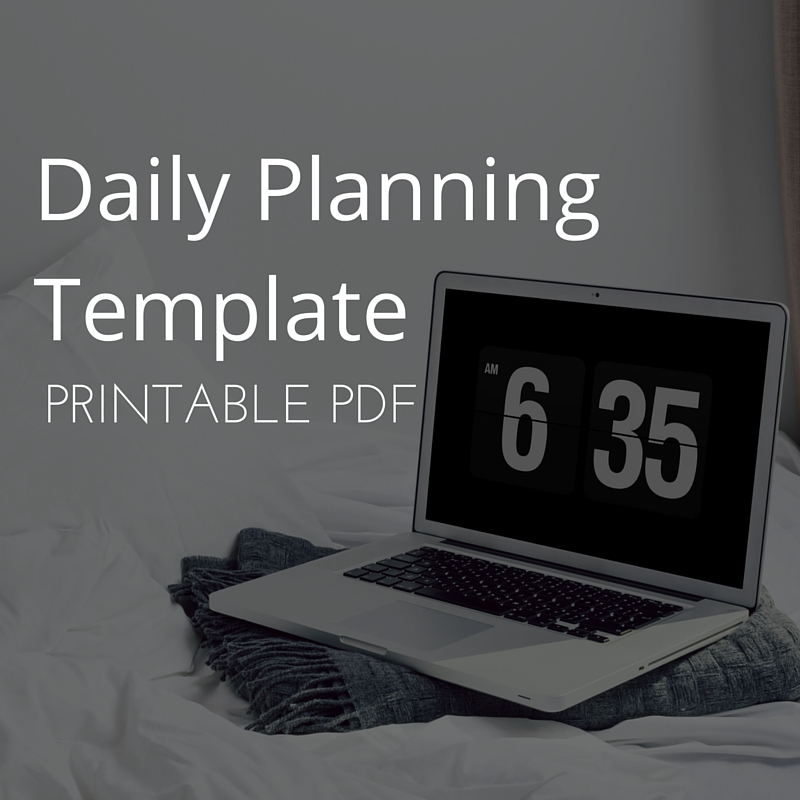 Daily Planning Template Printable