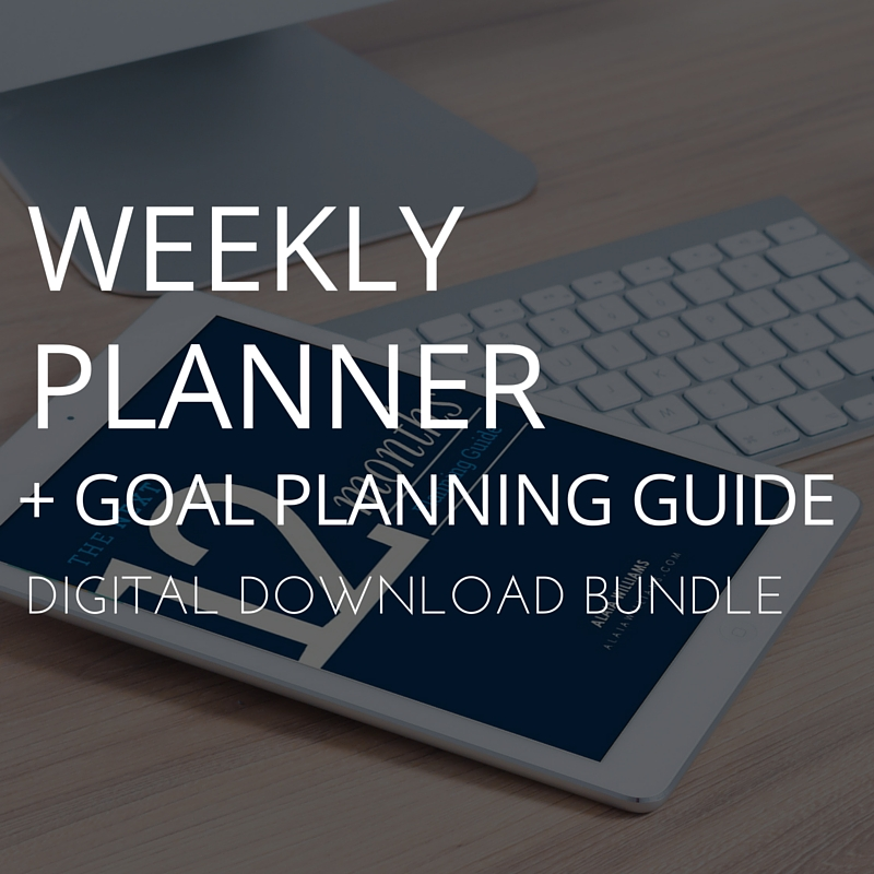 Goal Planning Guide And Weekly Planner