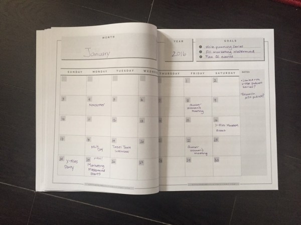 weekly planner paperback monthly view