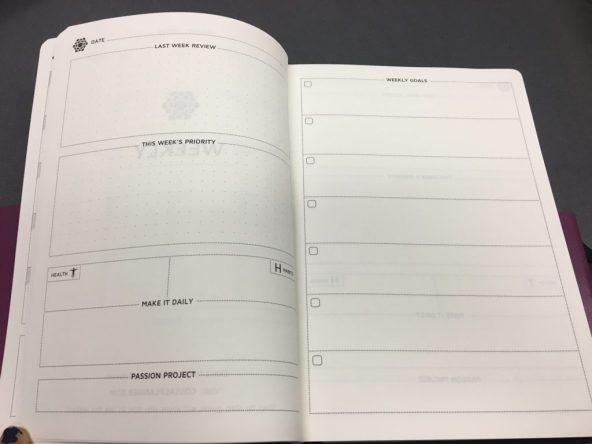 cossac planner review weekly planning pages