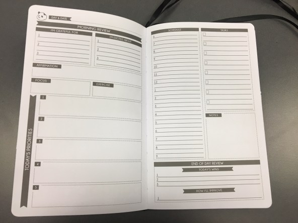 panda planner daily planning pages