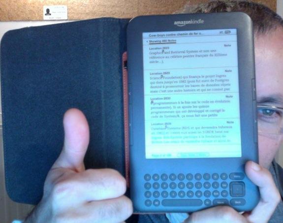 Les notes du livre sur le Kindle