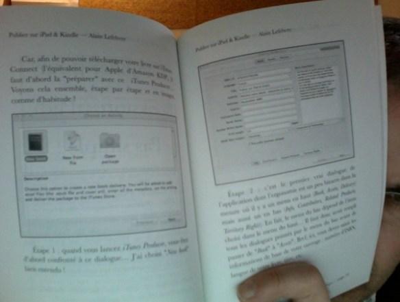 """L'intérieur de mon livre """"Publier sur iPad & Kindle"""""""