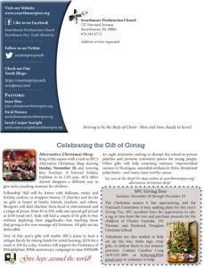 SPC Newsletter Back Page