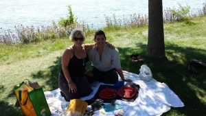 With my friend Mala enjoying a beautiful day by the river.