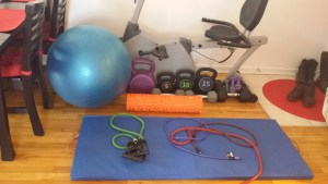 home exercise equipment.