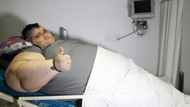 Photo of شاهد.. أسمن رجل في العالم .. مكسيكي وزنه 600 كيلو جرام