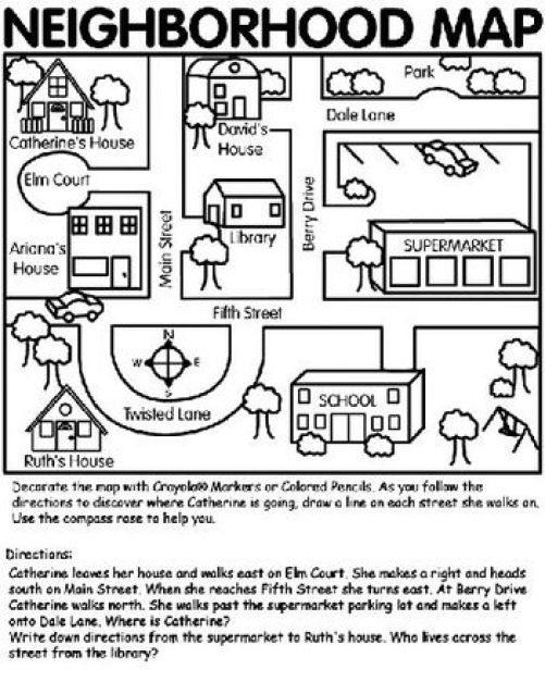 Interpret Simple Maps (2) – Alamandamaths on map of las vegas near bryce, map for giving directions in spanish, map worksheets,