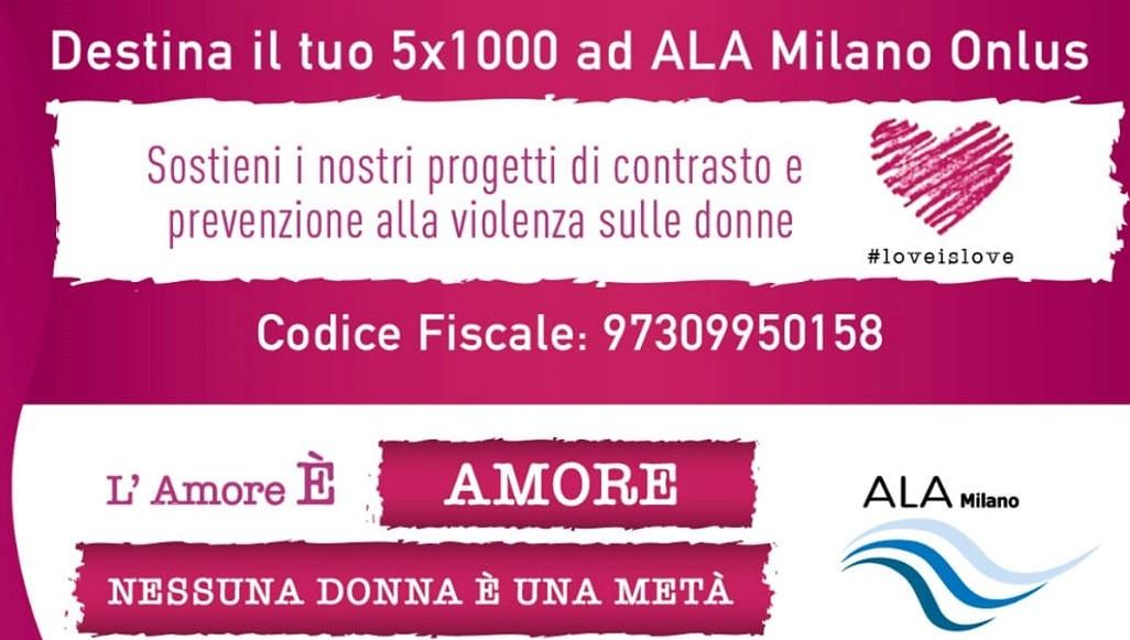 Dona il 5×1000 a ALA Milano Onlus