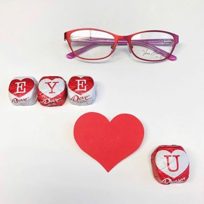 Vera Bradley eyeglasses and Dove candy