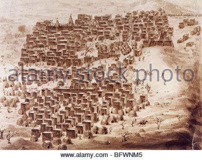 VIEW OF TIMBUKTU, 1828, BY RENÉ CAILLIÉ, THE FRENCH EXPLORER WHO WAS THE FIRST EUROPEAN TO RETURN ALIVE FROM THE CITY THAT...