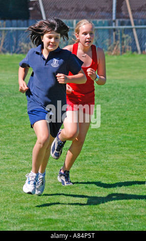 My daughter competing in school athletics