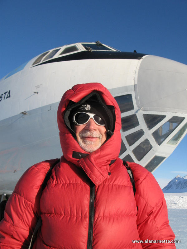 Alan in Front of The Il-76 at Union Glacier