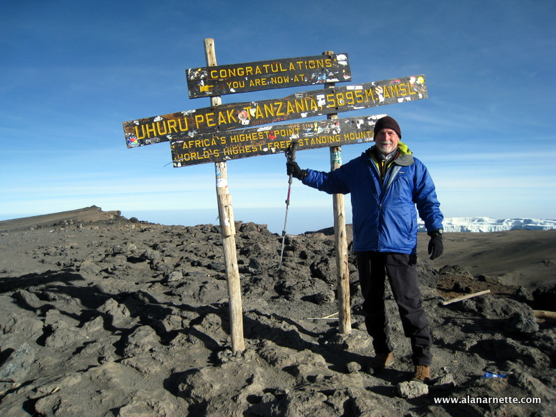 Alan on Kilimanjaro Summit