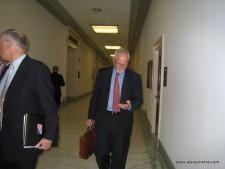 Alan between visits with Congress