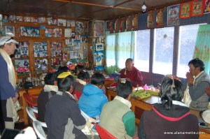 Lama Geshe Blessing the Sherpas