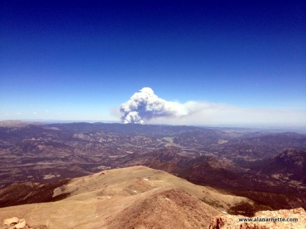 First plume as seen from Longs Peak on June 9 about 10AM