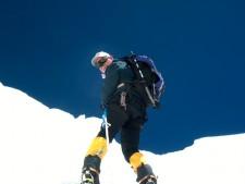 Alan Climbing the Khumbu Icefall in 2002
