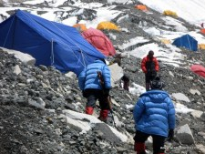 Guns at Everest Camp 2 in 2008