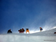 Climbers on the Lhotse Face