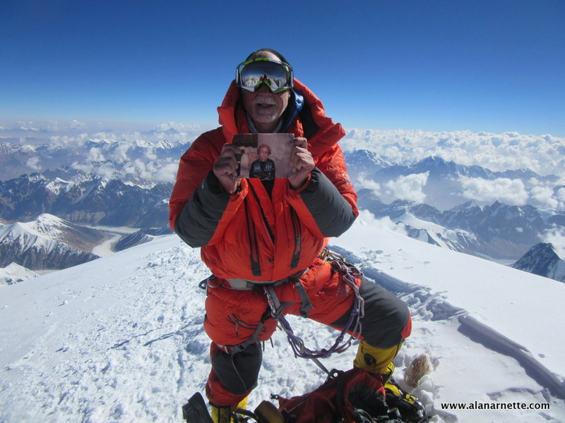 Alan and Ida on the sumit of K2, July 27, 2014