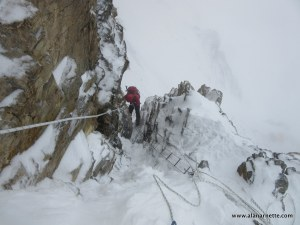 Down Climbing K2 Houses Chimney
