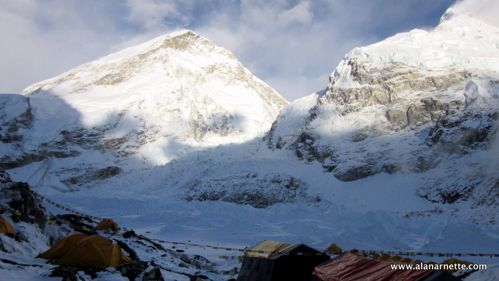 Khumbu Icefall from Everest Base Camp
