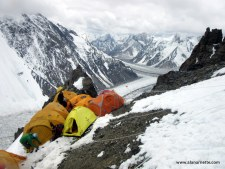 Tight space at Camp 1 on K2