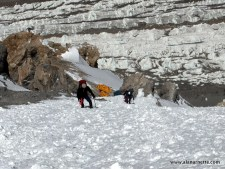 Climbing to Camp 1 on Broad Peak in 2006