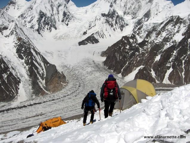 Camp 2 on Broad Peak in 2006