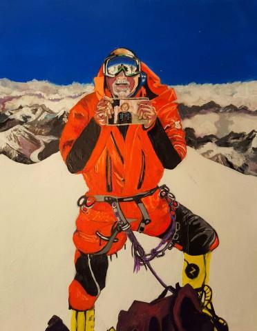 Alan on K2 summit by Suzanne Yazzie